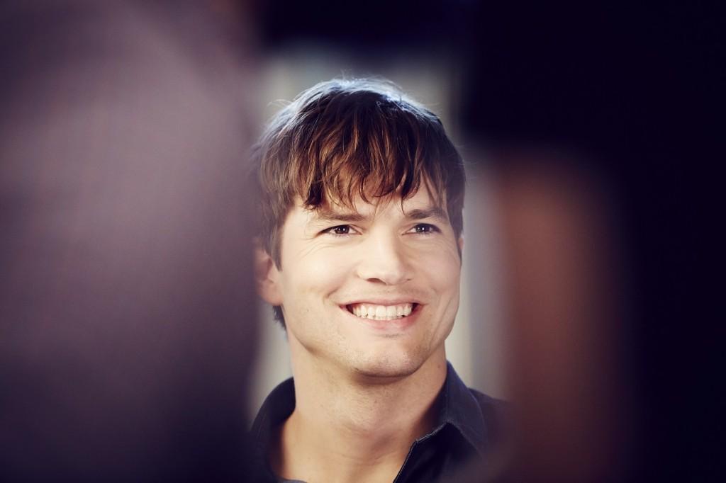 Ashton Kutcher on set of Wrigleys/ Orbit shoot in LA