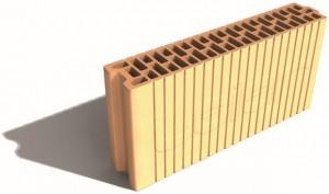 Keramická brúsená tehla LeierPLAN určená  na stavbu vnútorných priečok, zdroj Leier zm