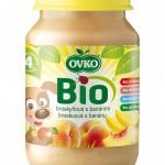 Ovko BIO broskyňová s banánmi 190g