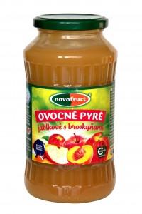 Ovocné pyré - jablkové s broskyňami 700g