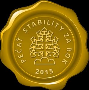 Pečať stability za rok 2015